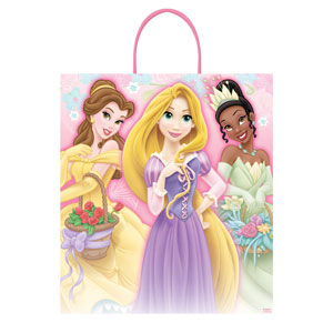 Disney Princess Plastic Handle Treat Bag- 16in