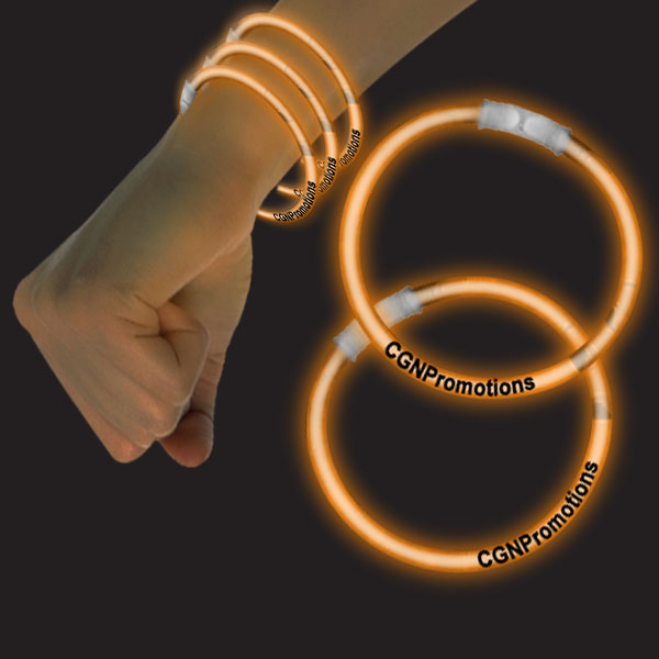 8 Inch Glow Bracelets - Orange