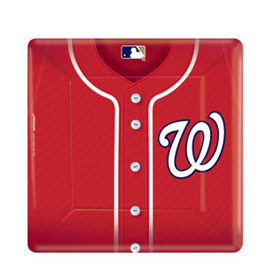 Washington Nationals Square 10 Inch Plates- 18ct