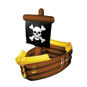 Inflatable Pirate Ship Cooler - 41inch