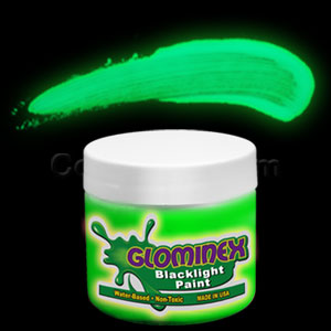 Glominex Blacklight UV Reactive Paint 2 oz Jar - Green