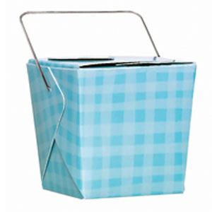 Plaid Pails - Blue