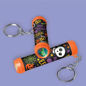 Halloween Kaleidoscope Keychain- 12ct