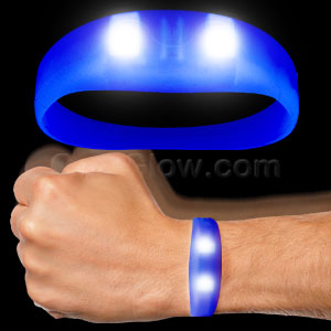 LED Motion Activated Wristband - Blue
