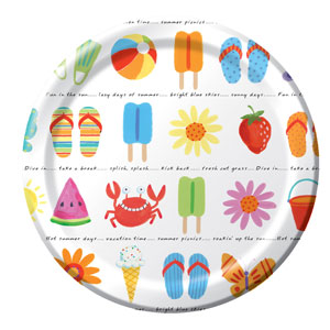 Sunshine Icons 9 Inch Plates- 8ct