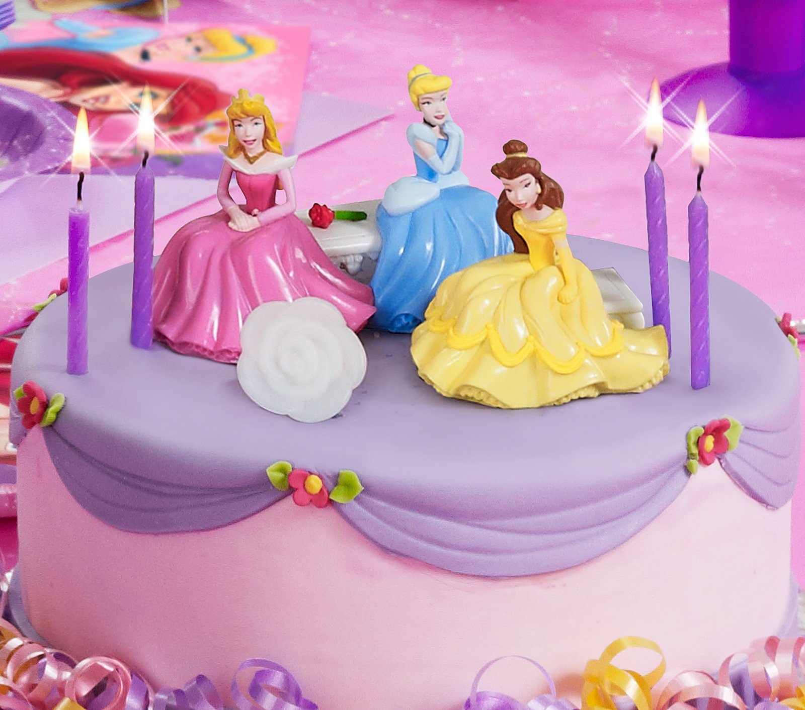 Disney Princess Light-Up Cake Toppers