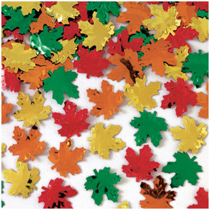 Metallic Maple Leaves Confetti- 2oz.