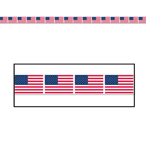 American Flag Party Tape- 20ft