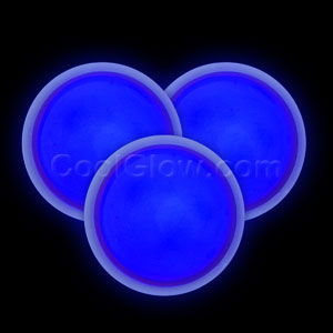 Glow Badge Round - Blue