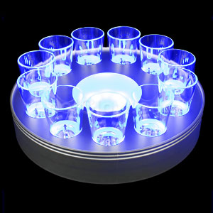 LED Rechargable Serving Tray - Blue