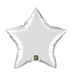 20 Inch Star Metallic Balloon- Silver