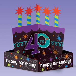 The Party Continues-40 Die-Cut Centerpiece- 10in