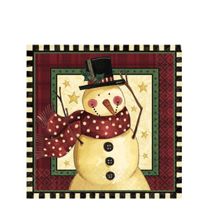 Cozy Snowman Luncheon Napkins