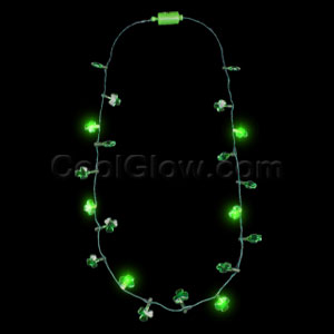 LED Shamrock Lights Necklace