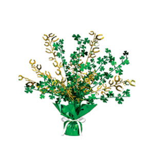 Shamrock Horseshoe Gleam Centerpiece