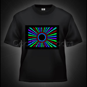 LED Sound Activated T-Shirt - Tunnel