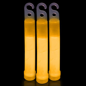 6 Inch Premium Glow Sticks - Orange
