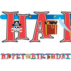 Pirate Happy Birthday Banner- 7ft