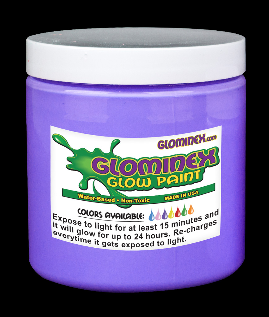 Glominex Glow Paint Pint Purple