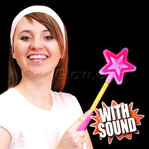 LED Fairy Star Wand with Sound