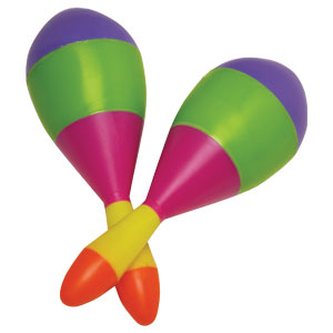 Multicolored Fiesta Maracas- 2ct