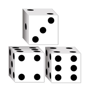 Dice Favor Boxes- 3ct