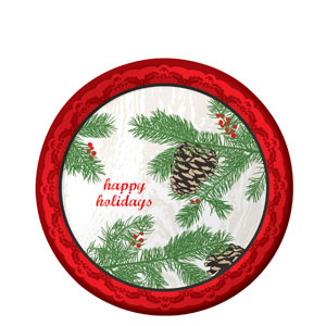 Winter Holidays 9 Inch Plates