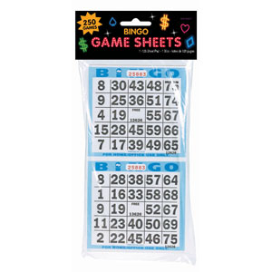 Bingo Game Sheets- 125ct