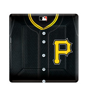 Pittsburgh Pirates Square 10 Inch Plates- 18ct