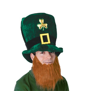 Plush Leprechaun Hat w Beard