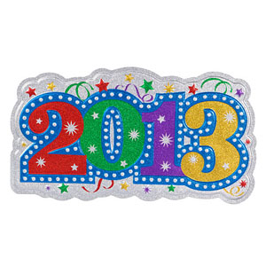 2013 New Year's Glitter 3D Cutout - 23in