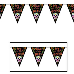 Day of the Dead Pennant Banner - 12ft