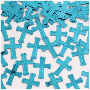 Crosses Confetti - Blue
