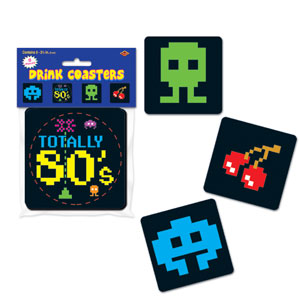 Retro Arcade Coasters - 8ct