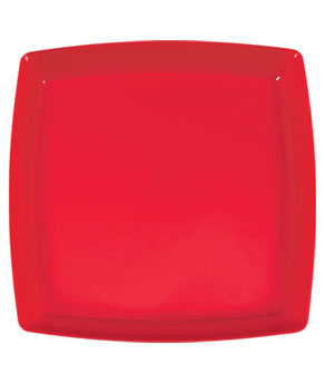 Holiday Red Square Platter- 12 Inch