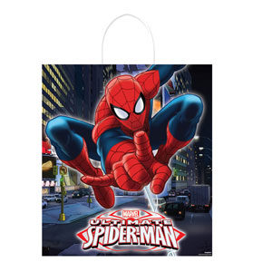 Spider-Man Plastic Handle Treat Bag- 16in