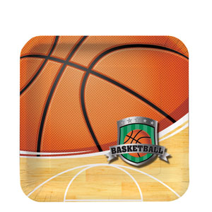 Basketball 7 Inch Square Plates
