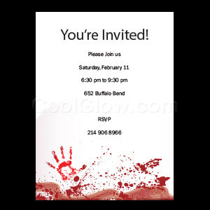 Bloody Handprints - Custom Invitations