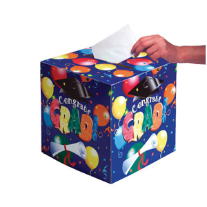 Grad Balloons Card Box
