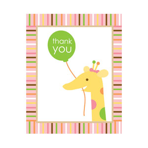 Sweet at One Girl Thank You Cards - 8ct