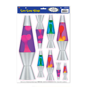 Lava Lamp Clings - 8ct