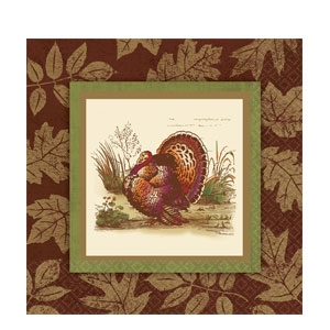 Thanksgiving Sophistication Dinner Napkins- 16ct