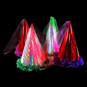 Party Cone Hat with Fringe - Assorted Colors