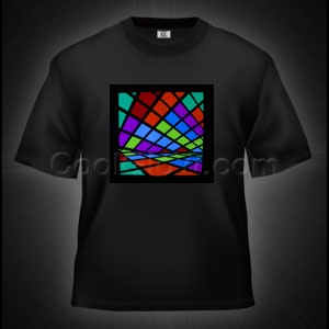 LED Sound Activated T-Shirt - Color Blocks