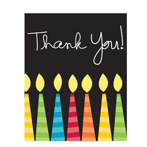 Candles Thank You Cards - 8ct