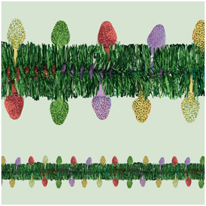 Prismatic Holiday Tinsel Garland- 12ft