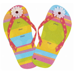 Flip Flops Jumbo Invitations- 8ct