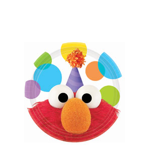 Elmo Party 7 Inch Plates- 8ct