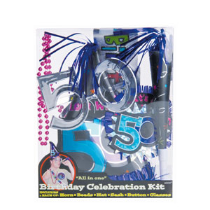 50th Birthday Party Kit- 6pc