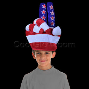 LED Patriotic Flashing Peace Hat